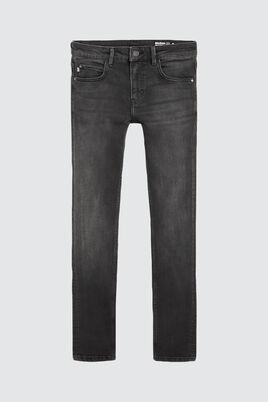 Jean skinny noir delavé
