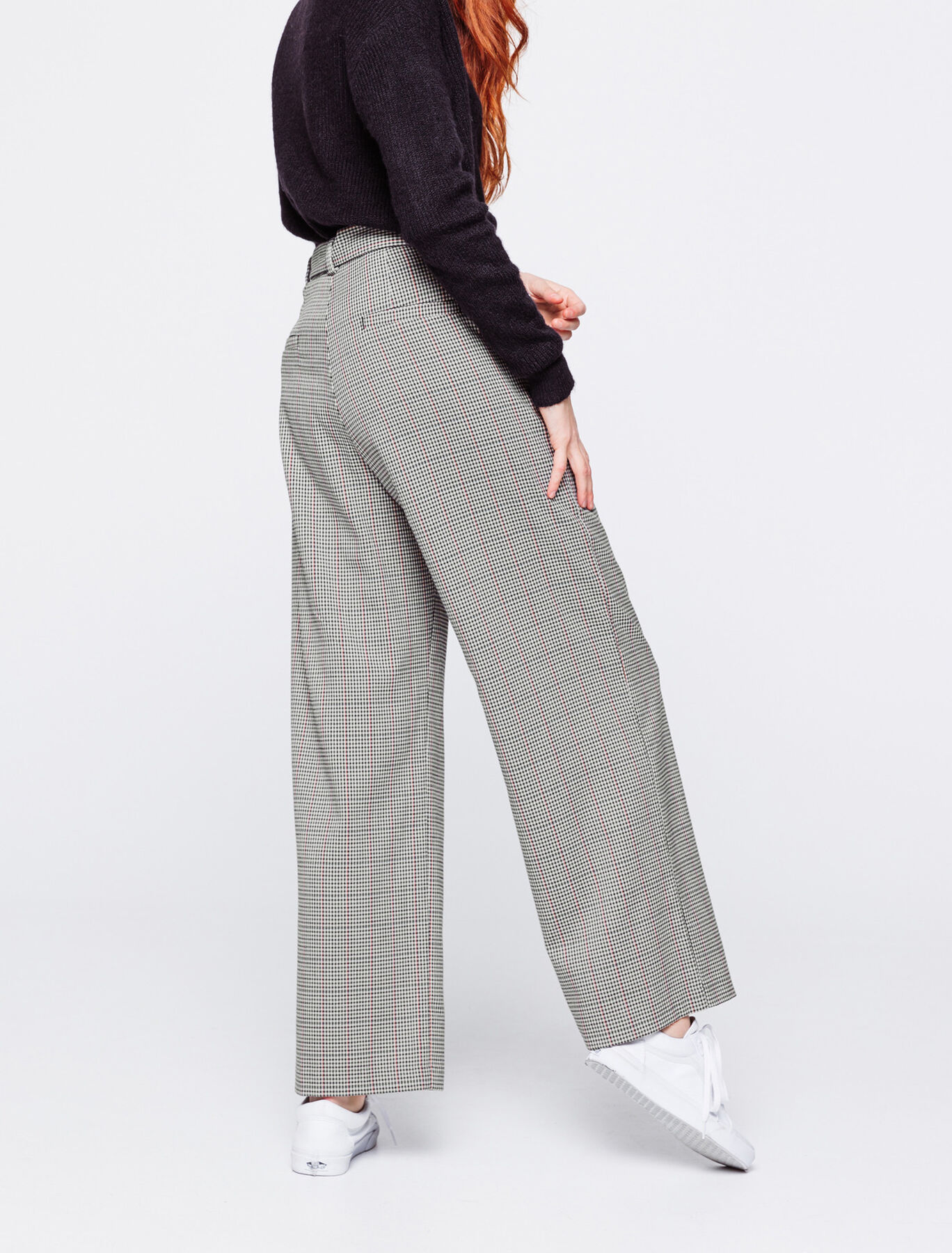 Pantalon Large Carreaux