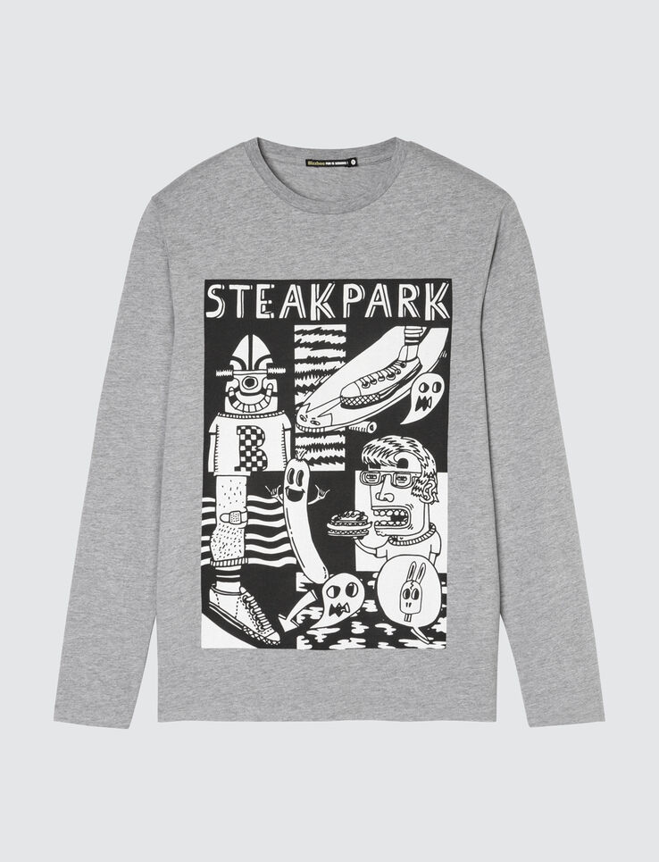 T-shirt print placé