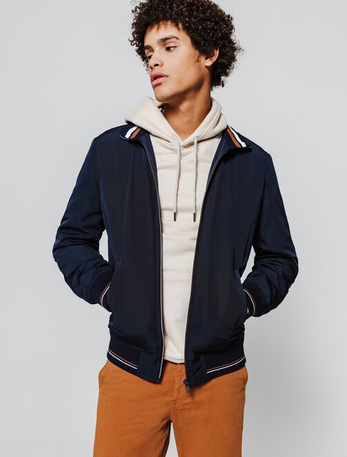 Bomber col montant homme