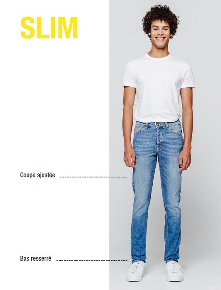 Jean slim noir délavé