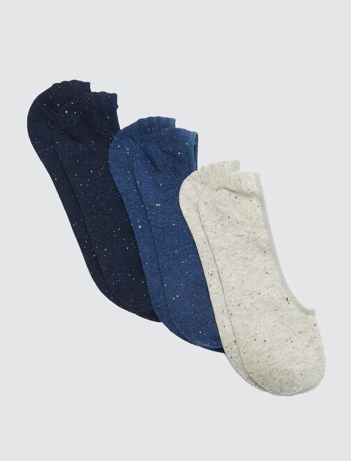 Lot de 3 Chaussettes Invisibles Neps homme