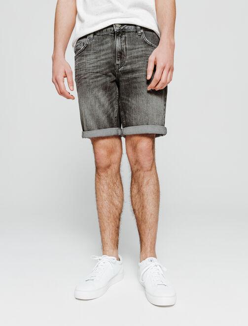 Bermuda en jean noir homme