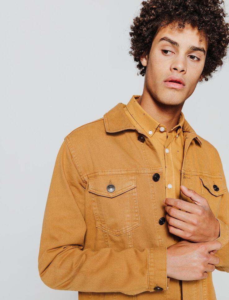 Veste en jean colorée