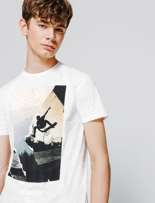 T-shirt neps photoprint skate homme