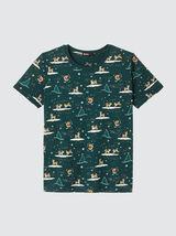 T-shirt imprimé de Noël kitsch