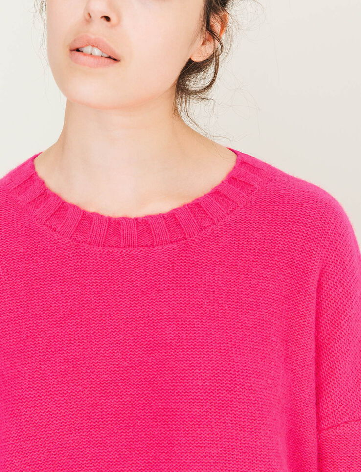 Pull col rond poilu