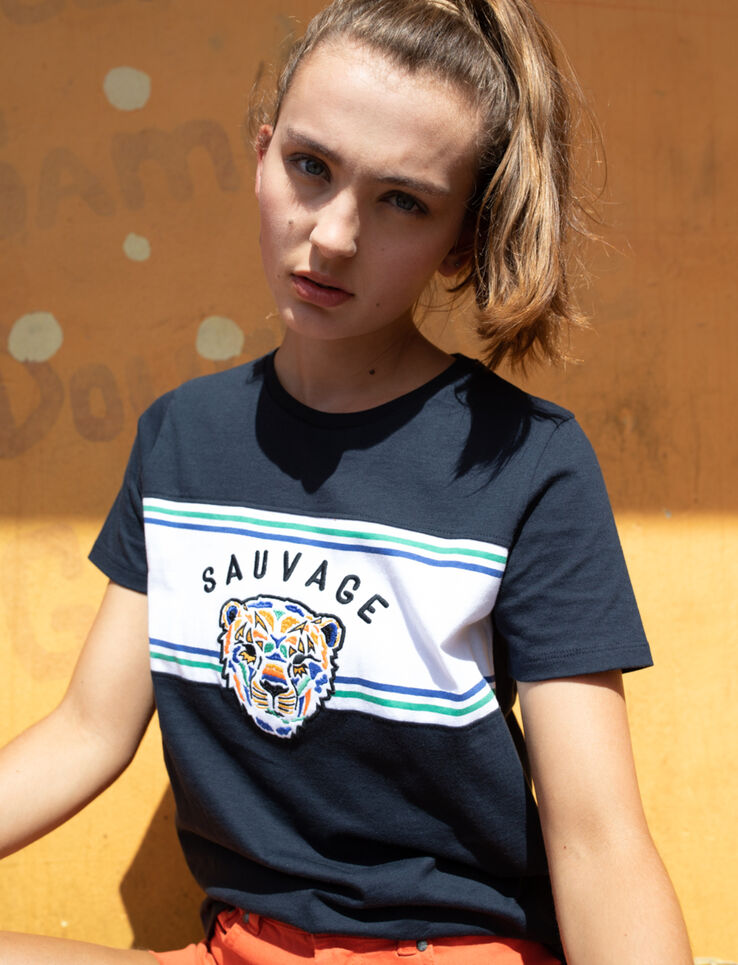 T-shirt message Sauvage