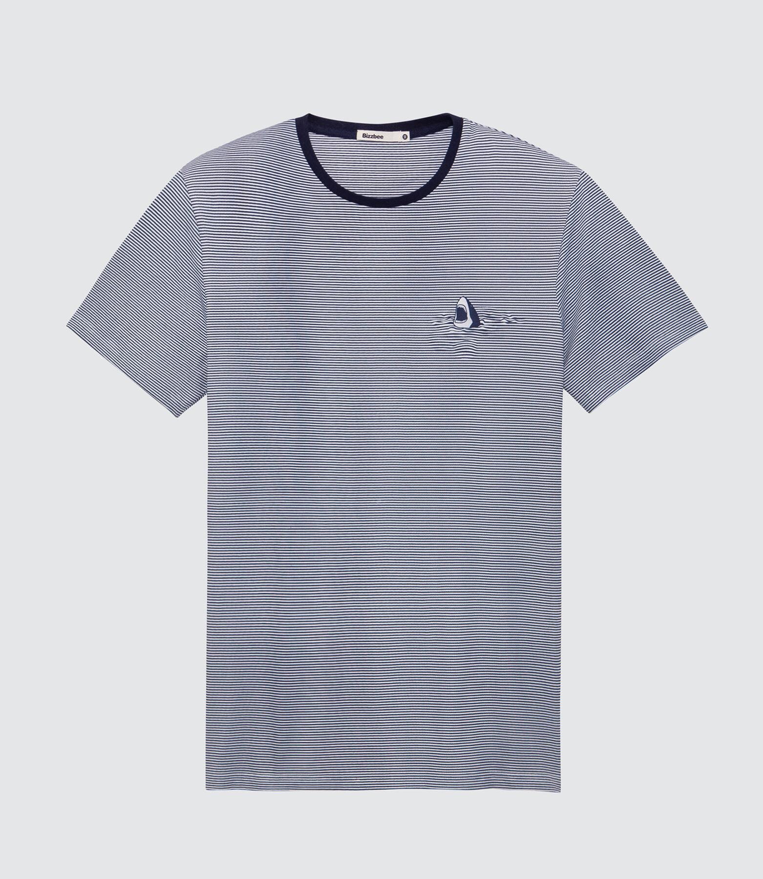 T-shirt rayé shark