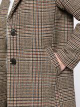 Manteau à Carreaux Laine Majoritaire