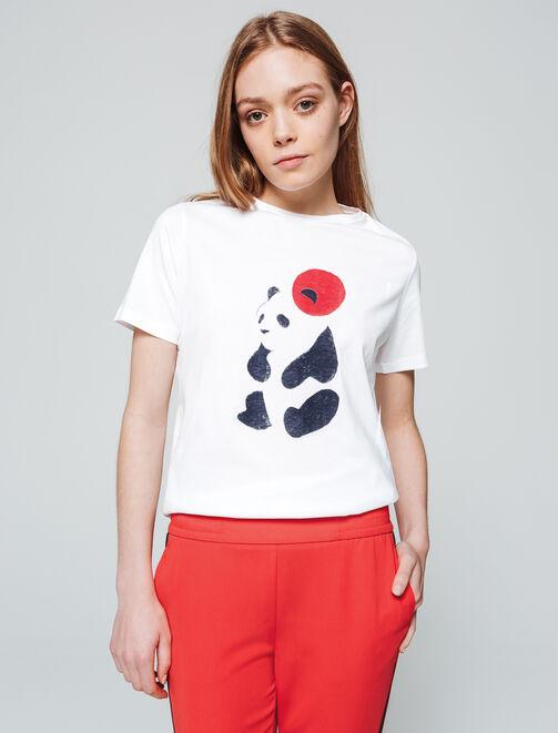 T-shirt Panda femme