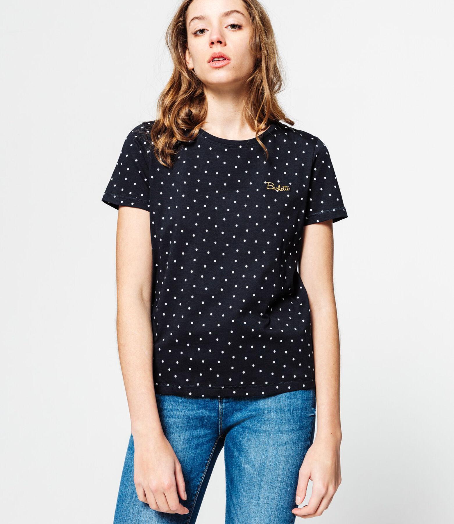 T-shirt à pois brodé