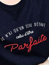"""T-shirt humour """"parfaite"""" en coton IAB"""