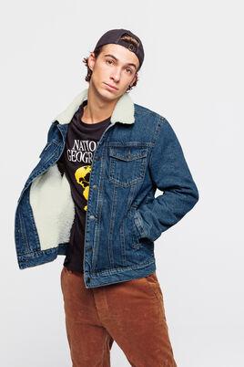 Veste en jean col sherpa