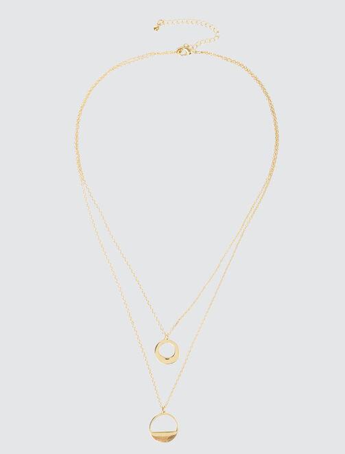 Collier Pendentif Cercle Géométrique femme