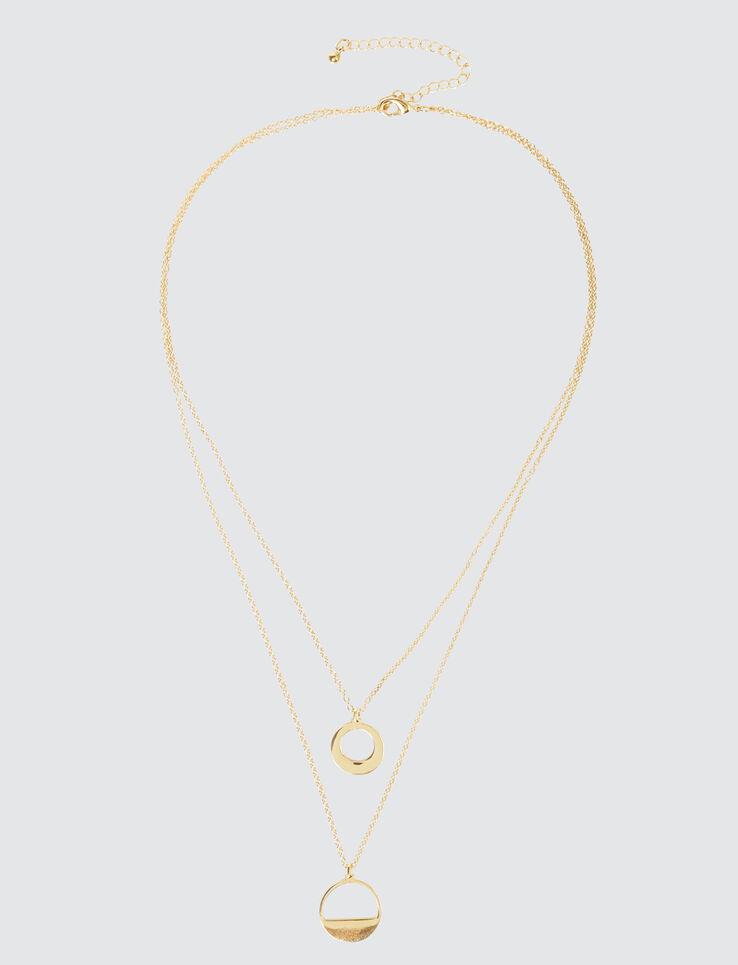 Collier Pendentif Cercle Géométrique