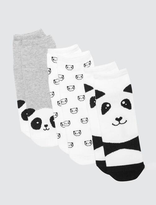 Lot de socquettes Panda femme