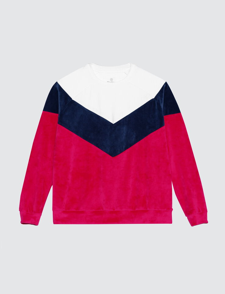 Sweat velours colorblock
