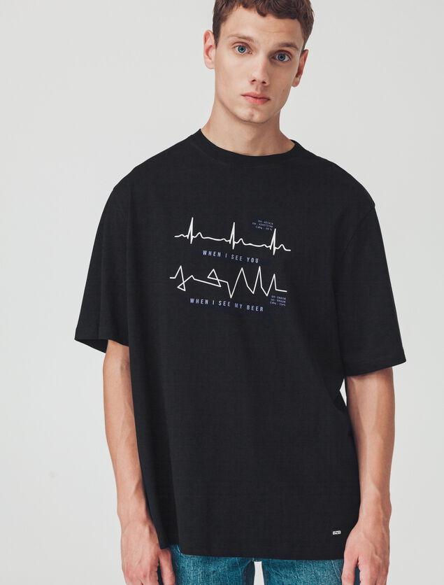T-shirt oversized imprimé humour