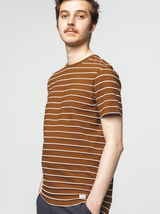 T-shirt avec rayures piquées