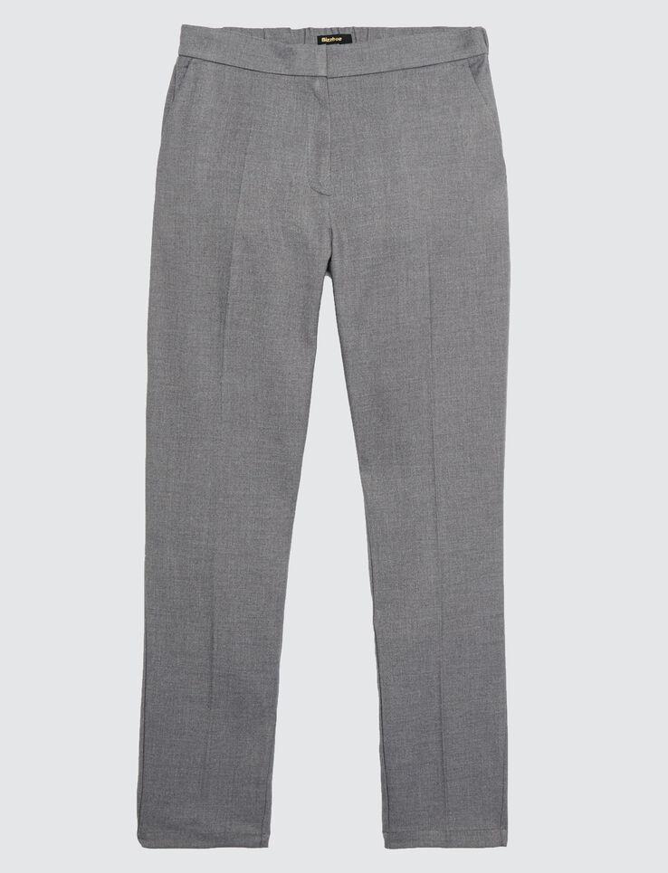 pantalon urbain uni à pinces