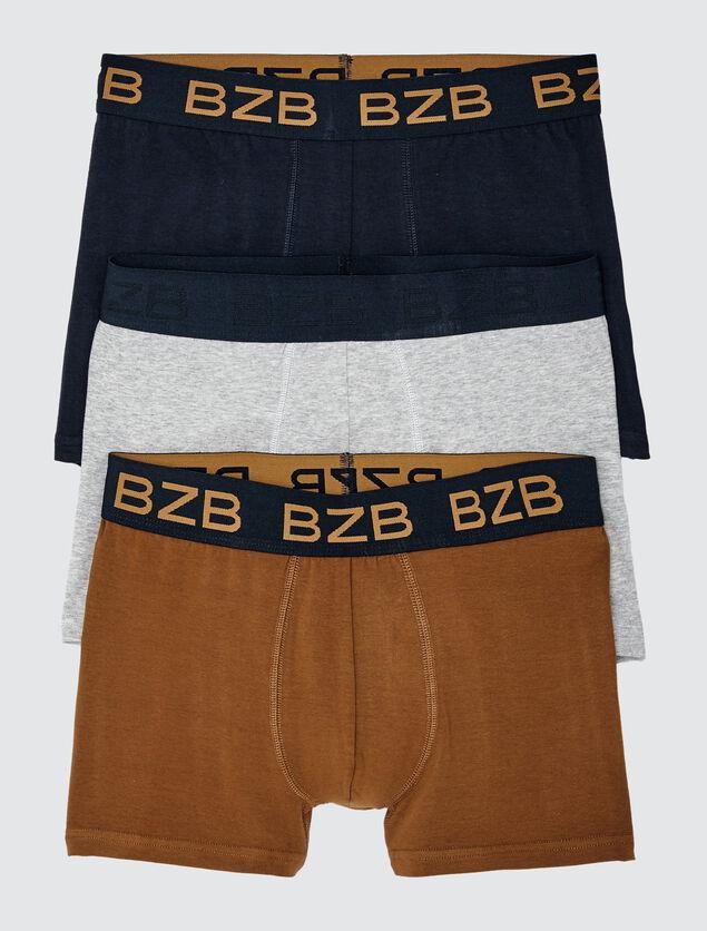 Lot de 3 Boxers Unis Coton IAB