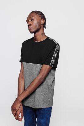 T-shirt colorblock tape contrastante