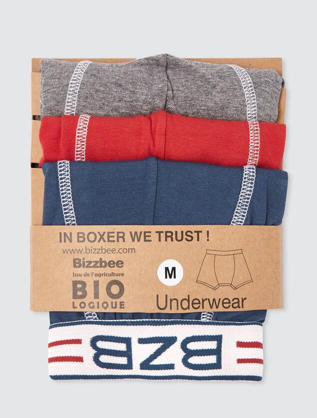 Lot de 3 boxers unis