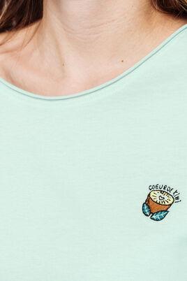 """T-shirt brodé """"cœur de kiwi"""""""