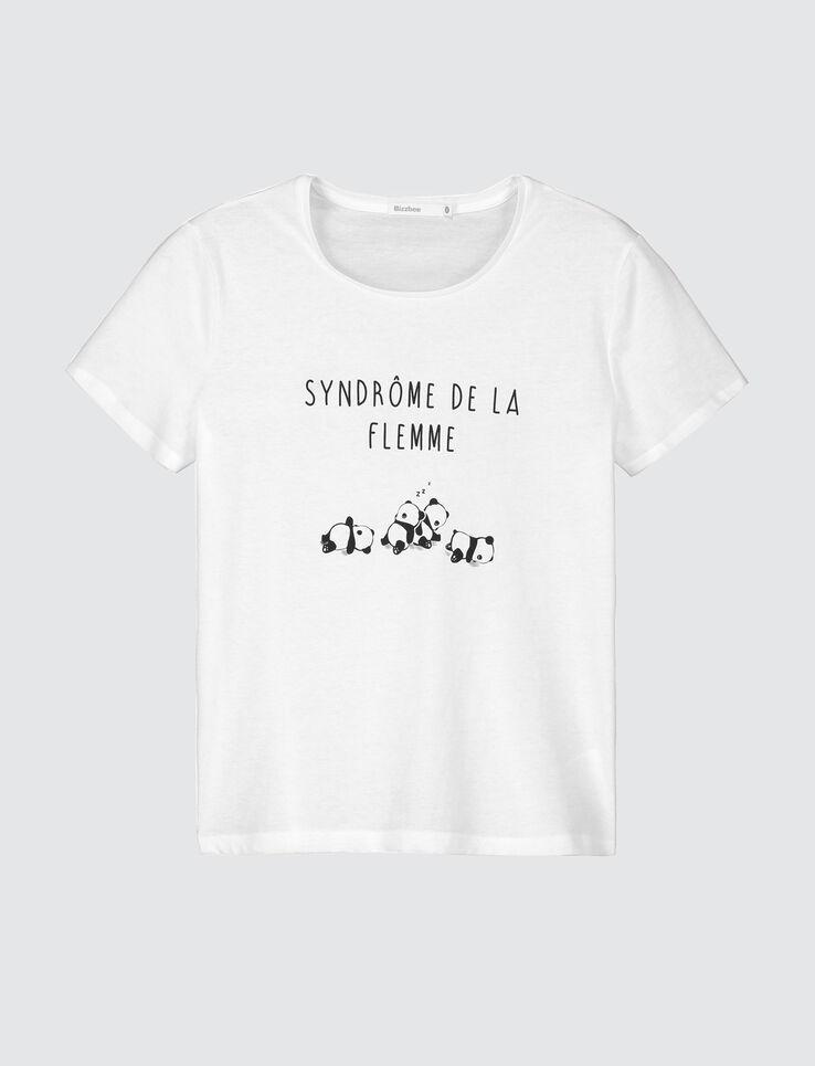 """T-shirt à message""""Syndrome de la flemme"""""""