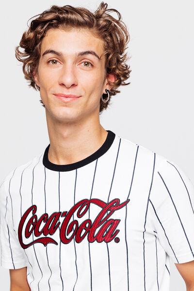 T-shirt Coca baseball