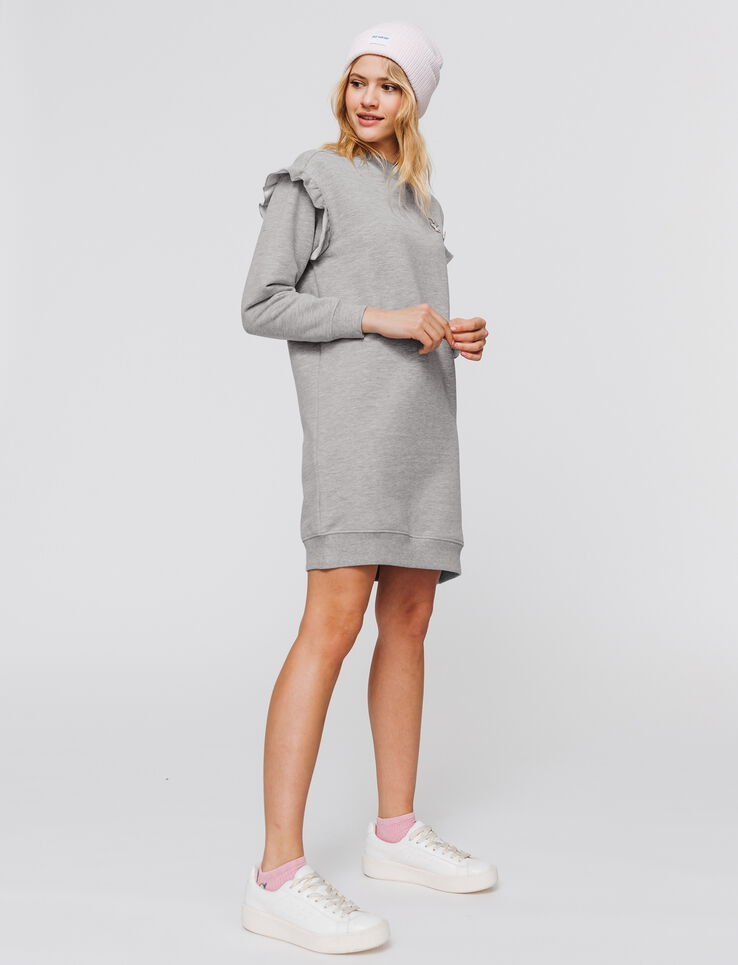 Robe sweat volantée