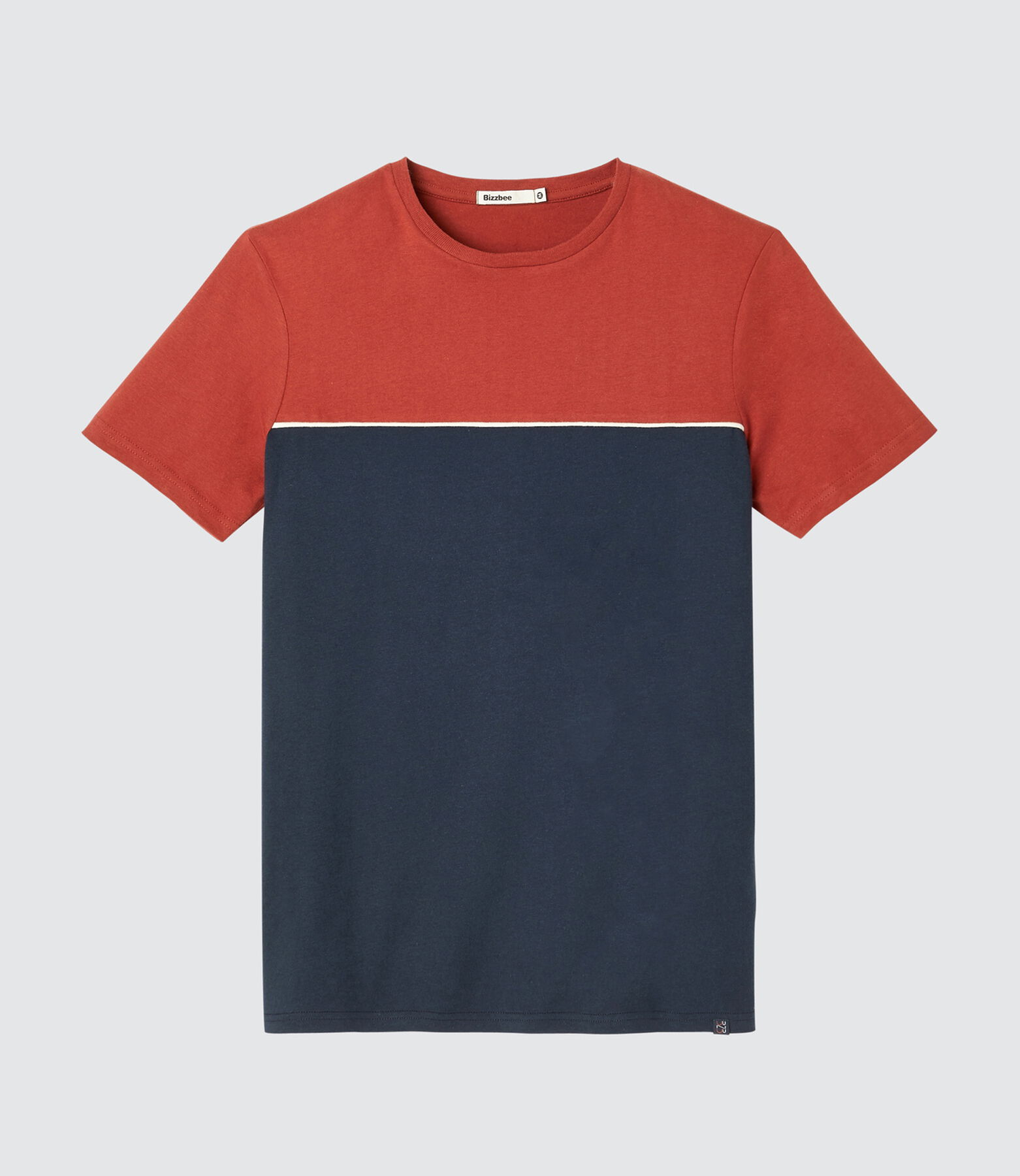 T-shirt fantaisie piping contrastant