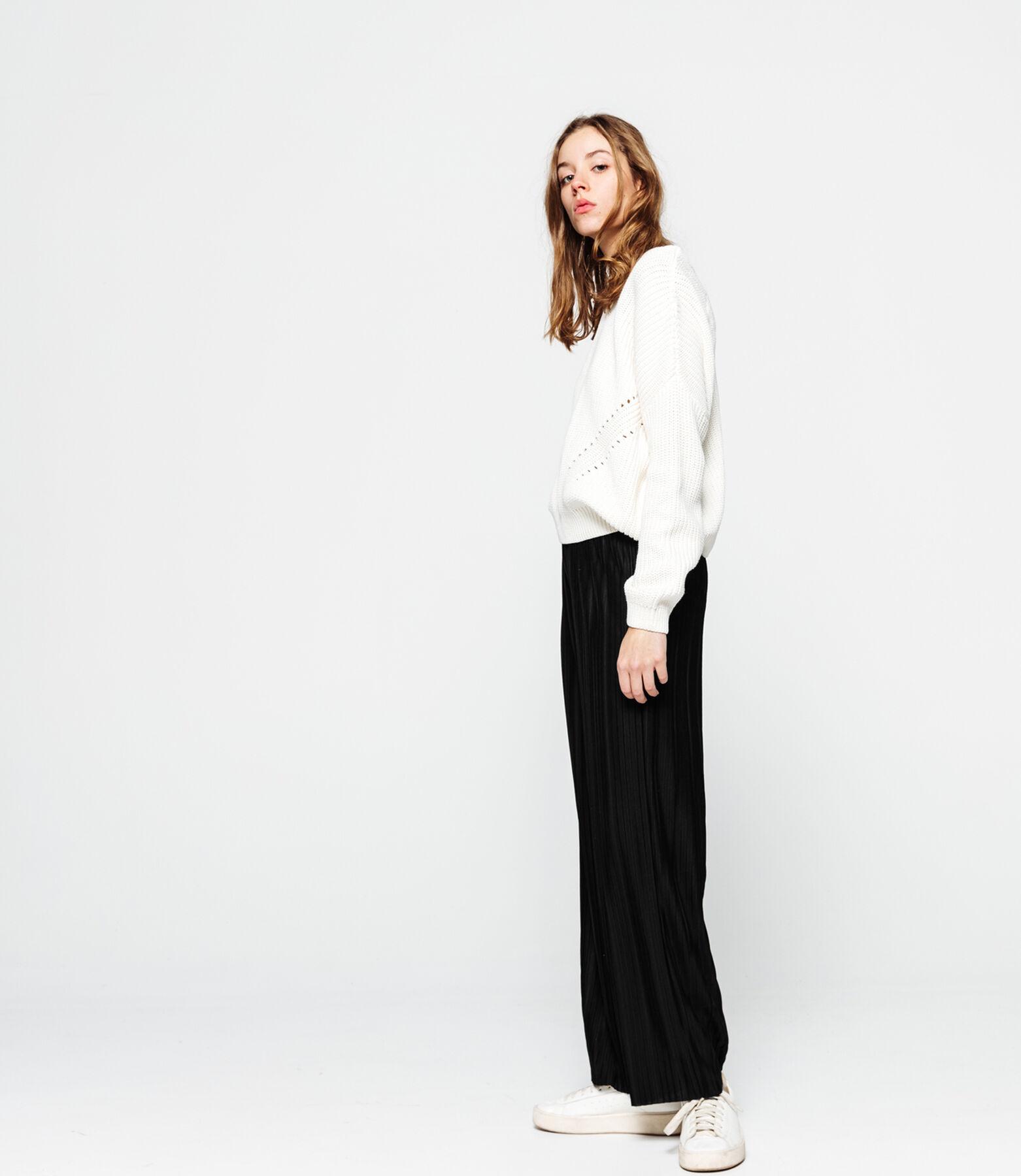 Pantalon plissé large
