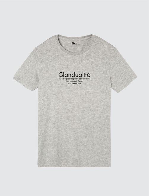 """T-shirt à message définition """"Glandualité"""" homme"""