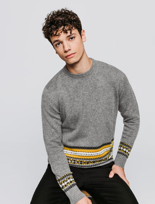 Pull jacquard homme