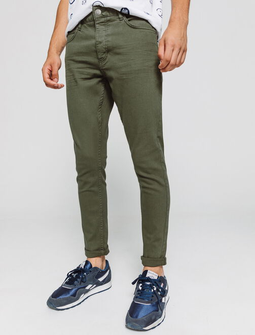 Pantalon 5 poches couleurs Skinny cropped homme