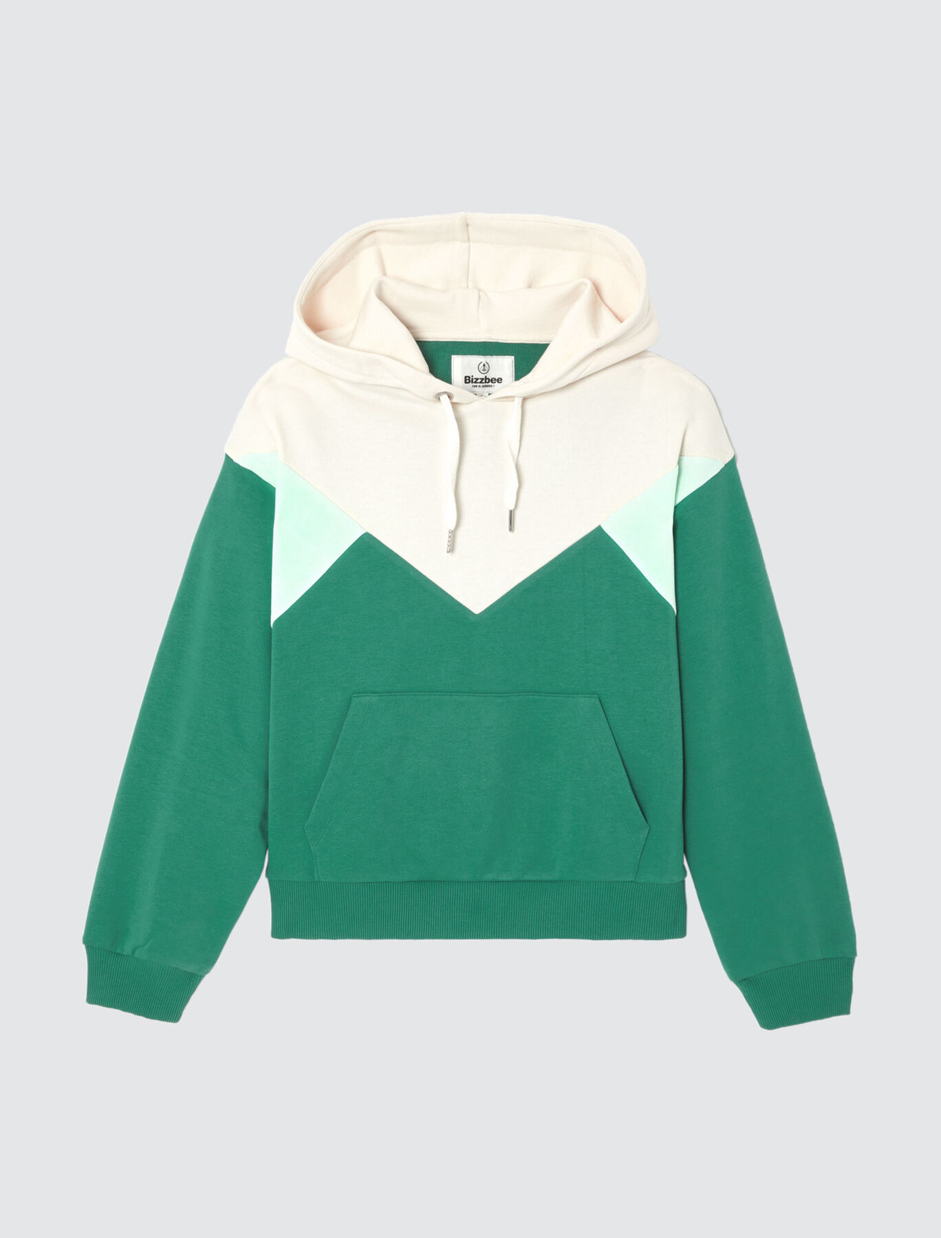 Sweat enfilé capuche colorblock