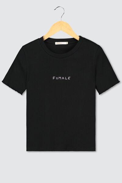 "T-shirt ""F=male"" BIO"