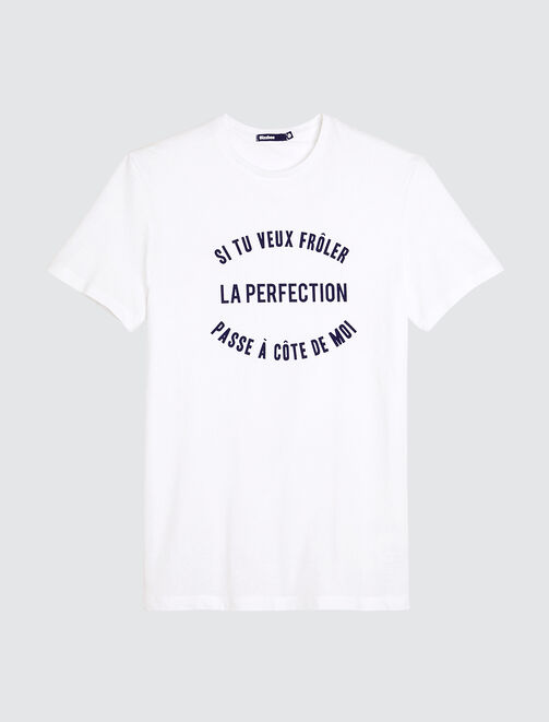 "T-shirt humour ""Frôler la perfection"" homme"