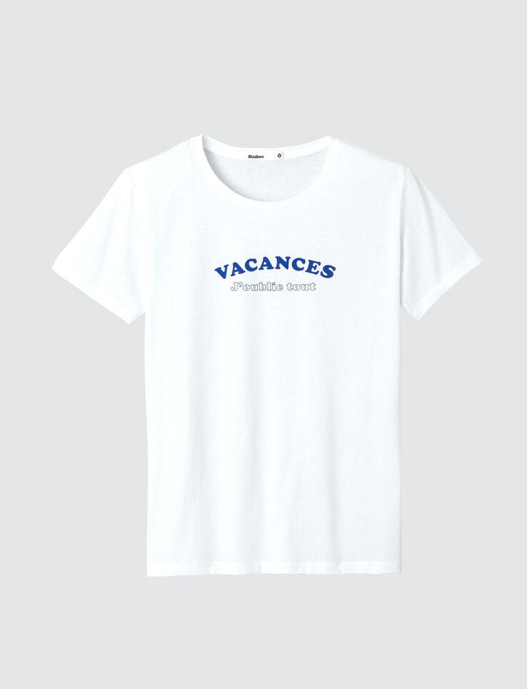 """T-shirt message """"Vacances j'oublie tout"""""""