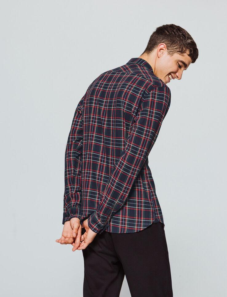 Chemise à carreaux esprit tartan
