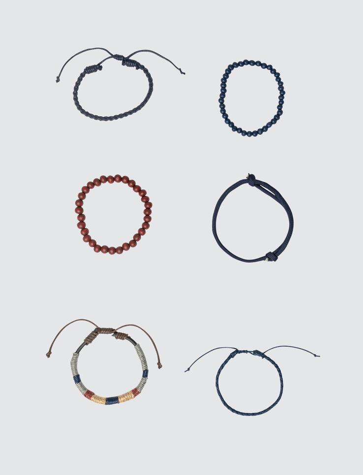 Set de Bracelets Marine et Rouille