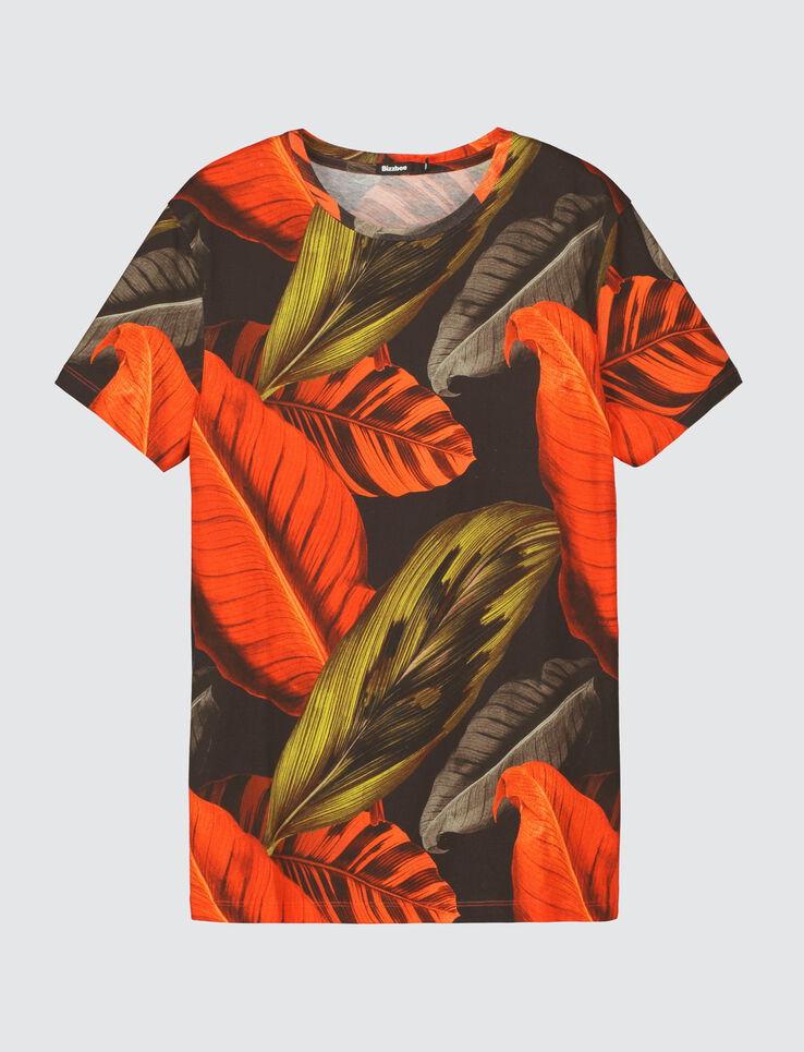 T-shirt imprimé grosse feuille