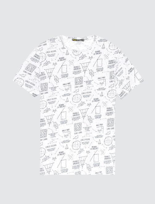 T-shirt motif théorèmes mathématiques homme