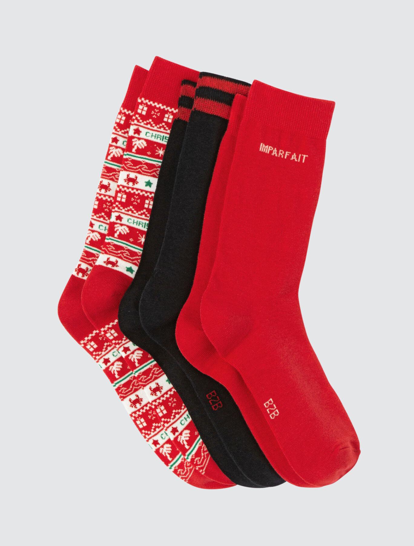 Chaussettes fantaisie Noël boite x3