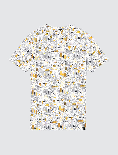 T-shirt all over dessin BD homme