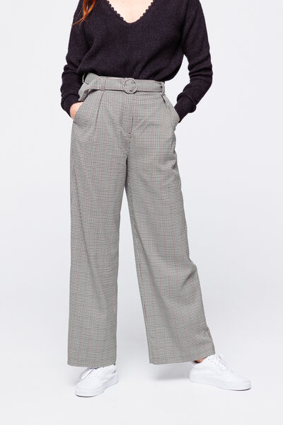 Pantalon Large Carreaux