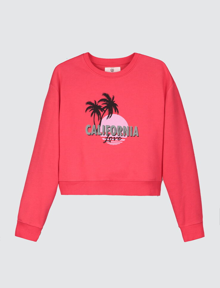 "Sweat cropped imprimé ""California Love"""