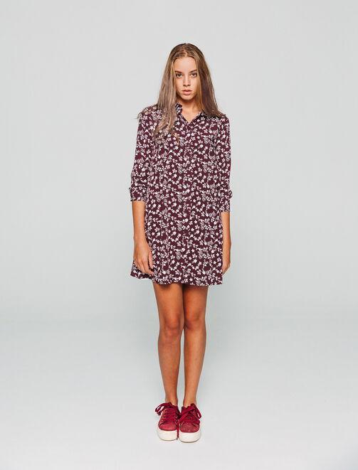 Robe chemise imprimée  femme